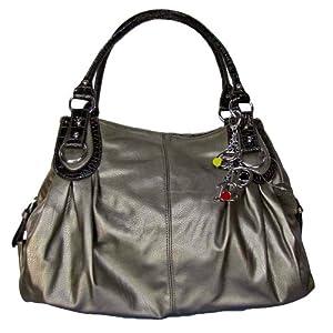 Large Charm Hobo Handbag (Pewter)