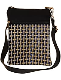 Snoogg Abstract Locked Design Cross Body Tote Bag / Shoulder Sling Carry Bag