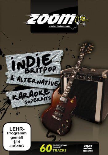 Zoom Karaoke DVD - Indie, Britpop & Alternative Superhits Karaoke - 60 Songs