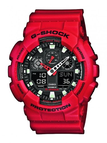 Casio G-Shock Watch Ga-100b-4aer - Red 80348