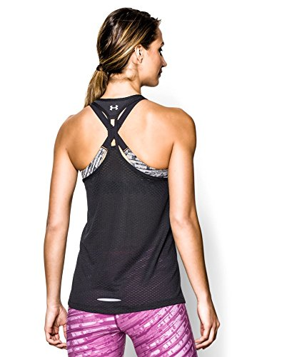Under Armour Women's UA Fly-By Stretch Mesh Tank X-Large Black