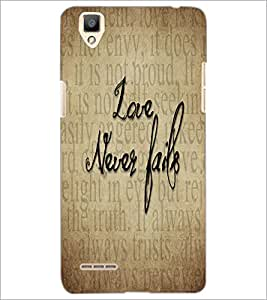 PrintDhaba Quote D-5540 Back Case Cover for OPPO F1 (Multi-Coloured)