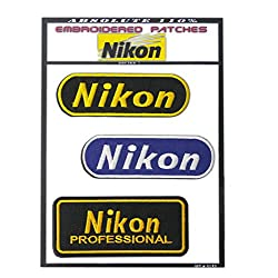 NIKON CAMERA PATCHES , Iron-On Patch Super Set by ONEKOOL