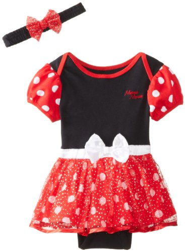 Disney Baby Baby-Girls Infant Minnie Dress With Headband, Black, 18 Months front-512650