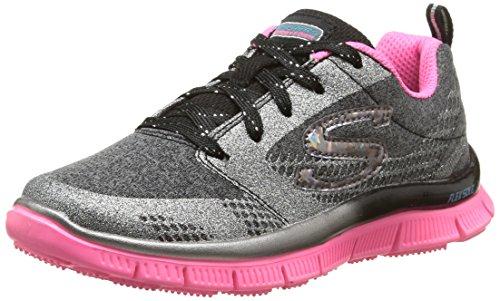 skechers-appeal-glimmerama-sneakers-basses-fille-gris-noir-rose-31-eu-uk-child-125-enfant-uk