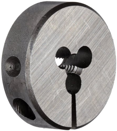 Union Butterfield 2010(UNC) Carbon Steel Round Threading Die, Uncoated (Bright) Finish, 13/16