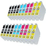20 Druckerpatronen kompatibel Epson T1811 T1812 T1813 T1814 XL - Expression Home XP30, XP102, XP202, XP205, XP302, XP305, XP402, XP405.