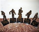 Solid Bronze Musicians Sculptures-5 Piece Set New*