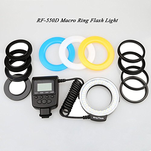 Easy&Fine®Rf-550D 48 Led Macro Led Ring Flash With Eight Kinds Ring Choose