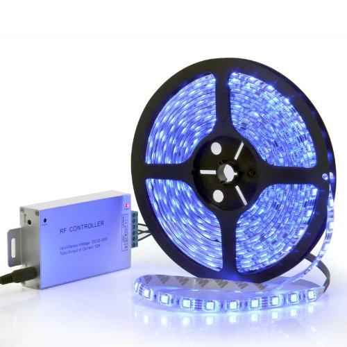 Flexible Multicolor Stick-On Led Strip - Indoor Splashproof, High Led Brightness, 300 Leds, 5 Meters