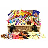 Retro Sweet Shop Gift Hamper by Chewbz, filled with 25 types of classic sweetshop retro sweets including Flying Saucers, Drumsticks and Refreshers. Weighing in at a whooping 2 kilds, this Sweet Hamper is fantastic value and a perfect present for retro sw