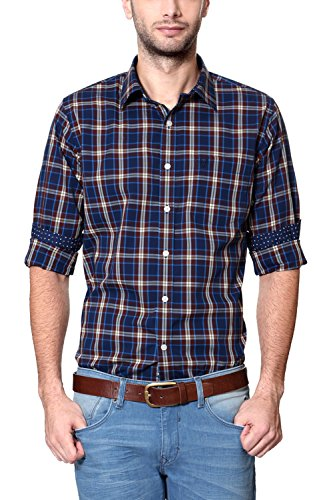 Allen-Solly-Mens-Casual-Shirt-8907308533259AMSF515G0276446Dark-Blue-with-Brown