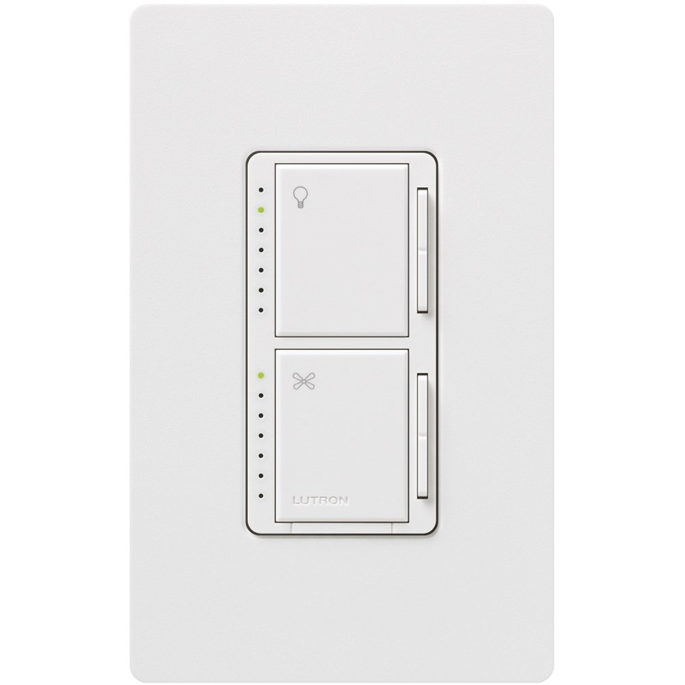 lutron ma lfqhw wh maestro fan control and dimmer kit white free. Black Bedroom Furniture Sets. Home Design Ideas