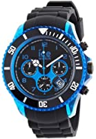 Ice-Watch Men's Quartz Watch with Black Dial Chronograph Display and Black Silicone Strap CH.KBE.BB.S