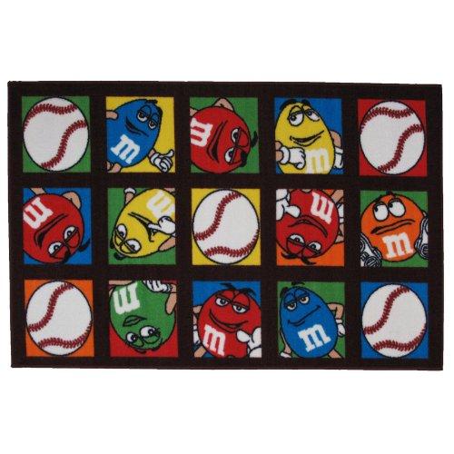 M & M'S Baseball Area Rug 39