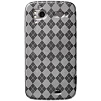 Amzer AMZ91661 Luxe Argyle High Gloss TPU Soft Gel Skin Case For HTC Sensation And HTC Sensation XE (Clear)