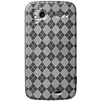 Amzer AMZ91661 Luxe Argyle High Gloss TPU Soft Gel Skin Case for HTC Sensation and HTC Sensation XE (Clear)