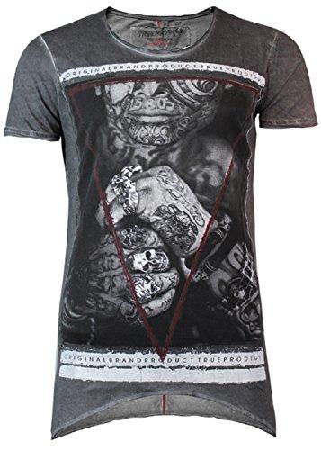 trueprodigy -  T-shirt - Collo a U  - Uomo grigio L
