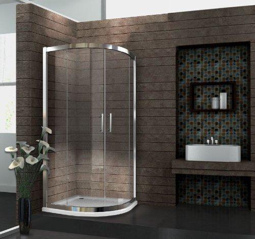 Duschkabine Fresh 90 x 90 Viertelkreis ohne Duschtasse