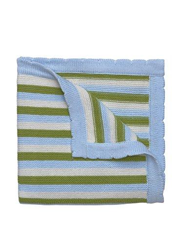 Elegant Baby Monkey Stripe Blanket, Multi - 1