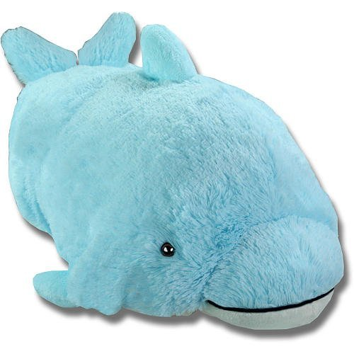 Pillow Pets Squeaky Dolphin Blue Plush New