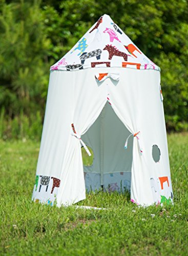 Kids Indoor Canvas Play Tent Teepee Horses