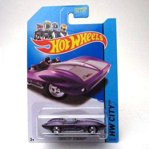 Hot Wheels 2013 Hw City Corvette 60th Purple Corvette Stingray 203/250 - 1