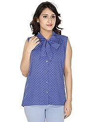 Gugg Women's Self Design SHIRT [GS16A43_BLUE]