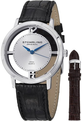Stuhrling Original Men's 388G2.SET.01 Winchester Cathedral Stainless Steel Watch with Additional Leather Strap