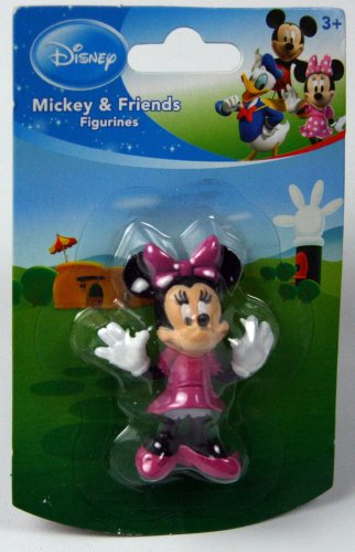 "Disney Mickey Mouse Clubhouse 2""-3"" Minnie Mouse Figurine Cake Topper - 1"