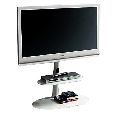"""L&C Screen Tower Supporto per TV da 32"""" a 55"""", 115 cm, Bianco Raggrinzito"""