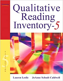 administration of qri 5 reading assessment Although the qri-5 remains an informal assessment  section 5 administration  section 13 examples of using the qualitative reading inventory using the qri-5 to.