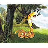 Snake - Illuminated 3D Jigsaw Woodcraft Kit Wooden Puzzle ~ Puzzled