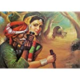 "Dolls Of India ""Father And Daughter"" Reprint On Paper - Unframed (71.12 X 55.88 Centimeters)"