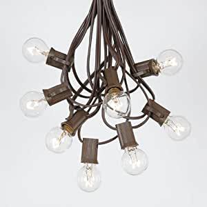 G30 Globe Outdoor String Lights With 125 Clear Globe Bulbs By No