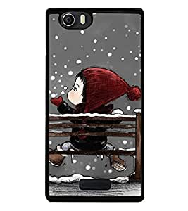 Fuson Premium 2D Back Case Cover Cute baby in Snow With White Background Degined For Micromax Canvas Nitro 2 E311::Micromax Canvas Nitro 2 (2nd Gen)