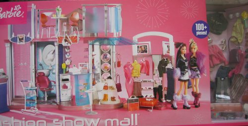 Barbie FASHION SHOW SHOPPING MALL 100+ Piece PLAYSET w Lights & Sounds (2004)