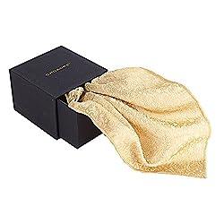 Chokore Brocade Men's Silk Pocket Square Benares line