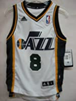 Deron Williams Utah Jazz WHITE NBA Youth SWINGMAN Rev30 Jersey by Reebok