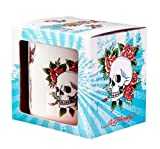 Ed Hardy Mug, Skulls and Roses Design