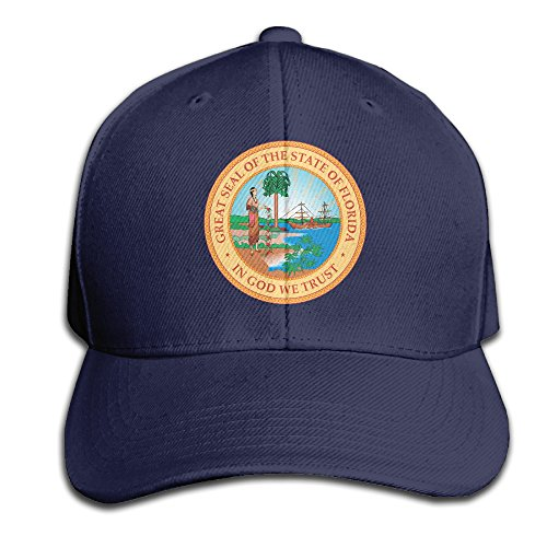 FT Dream Florida Great Seal State Logo Design Gift Snapback Hats Baseball Trucker Caps For Mens Womens Unisex (Great Seal Hat compare prices)