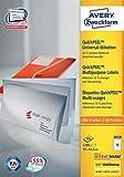 Avery Zweckform 3659 Universal-Etiketten, 97 x 42,3 mm, Geeignet für Deutsche Post INTERNETMARKE, 100 Blatt/1.200 Etiketten, weiß