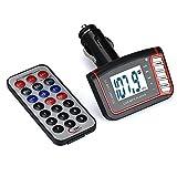 Wireless FM Transmitter, Napoo LCD Car MP3 MP4 Player Modulator Car Kit SD/ MMC Card w/ Remote