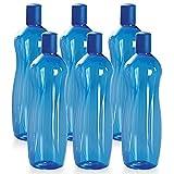 #3: Cello Sipwell PET Bottle Set, 1 Litre, Set of 6, Blue