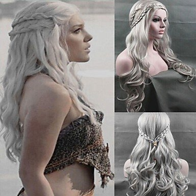Cosplay wig Inspired by Game of Thrones Daenerys Targaryen Dragon Princess Wig Costume Wigs
