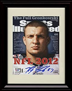 Framed Rob Gronkowski Sports Illustrated Autograph Print - New England Patriots by Framed Sport Prints