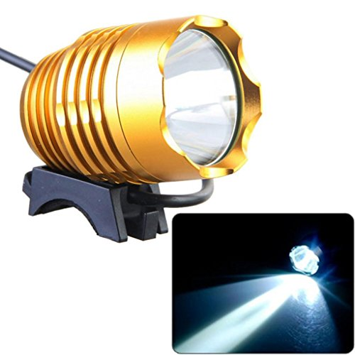 Most Powerful 1200 Lumen Best Metalic Rose Gold High Low Beam Cree Xm-L U2 Led Rechargeable Li-Ion Battery Bicycle Light Headlight Flashlight Black Highest Quality Aircraft Aluminum Alloy Waterproof Easy To Install Improves Safety Dark Rides Snowboarding