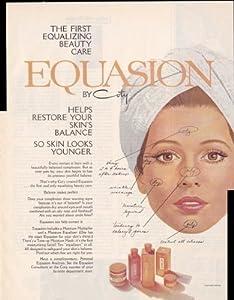 Equasion By Coty Beauty Care 1970 Antique Face Cream Vintage Antique Advertisement