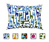 Little Sleepy Head Toddler Pillowcase - Utopia Collection: Blue Giraffes, 13 X 18