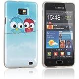 tinxi® Design Schutzhülle für Samsung Galaxy S2 II i9100 Hülle TPU Silikon Rückschale Schutz Hülle Silicon Case mit zwei kleine Eulen Owl Muster